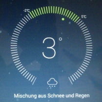 Wetterbericht auf meinem Handy
