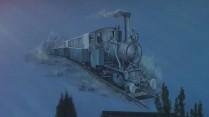 Die Jahreszahl der Dampfeisenbahn: 1915 - 1957. Nach dem Krieg wurden die Schienen entfernt.