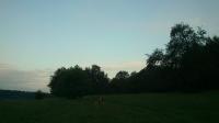 Ein Hauch von Morgenrot zwischen den Wolken...